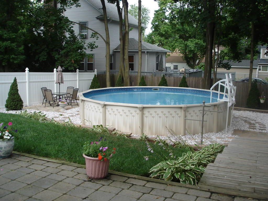 Above Ground Pool Patio Design Ideas Design And Ideas