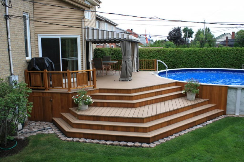Above Ground Pool Patio Ideas Design And Ideas - Backyard pictures with above ground pools