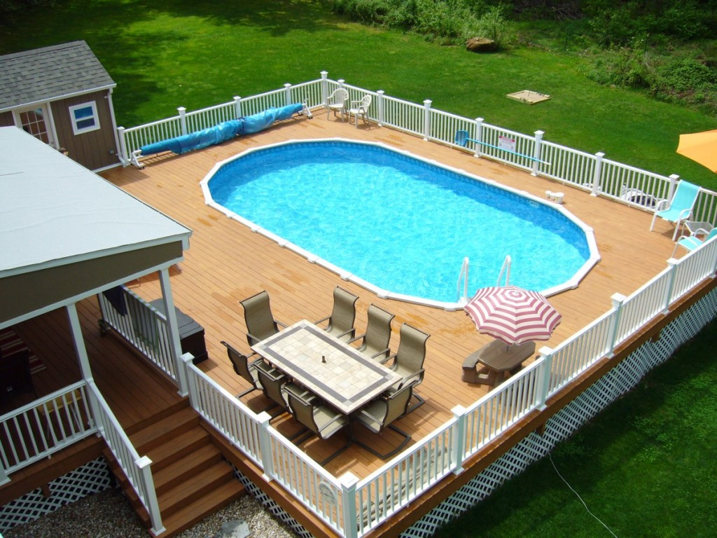above ground pool patio ideas