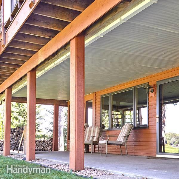 adding roof under deck design and ideas. Black Bedroom Furniture Sets. Home Design Ideas