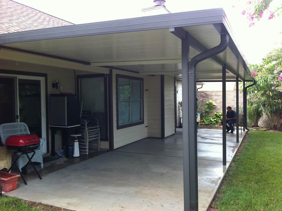 Aluminum patio cover design and ideas for Aluminum wood patio covers