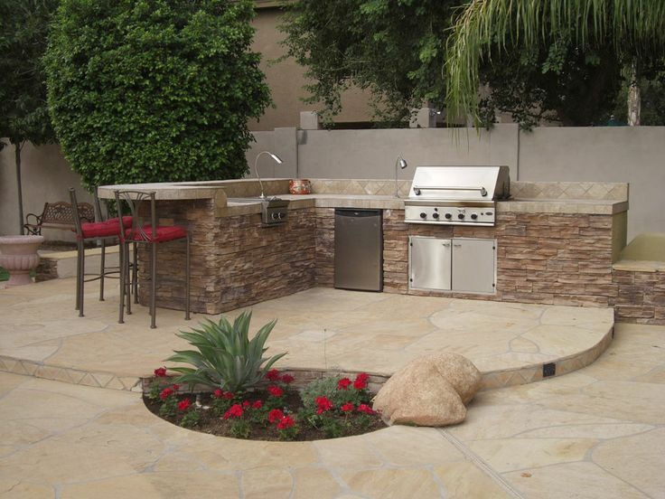 Backyard bbq patio ideas design and ideas for Outdoor bbq designs plans