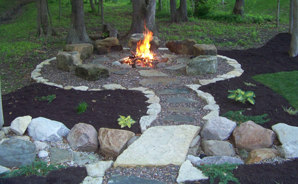 Backyard Fire Pit Area Designs
