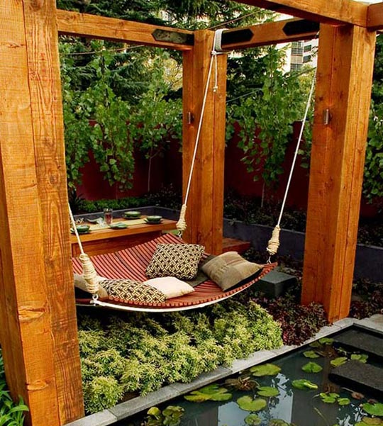 Rocking Hammock Backyard City Design And Ideas