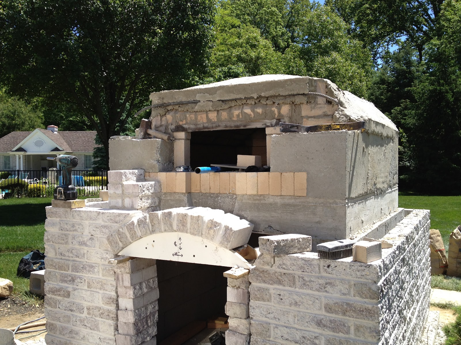 backyard pizza oven brick design and ideas