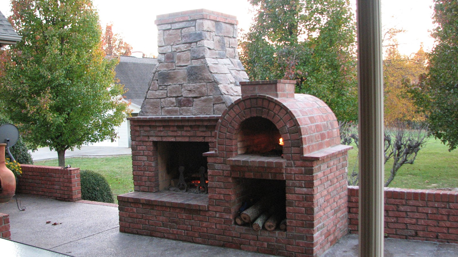 backyard pizza oven brick