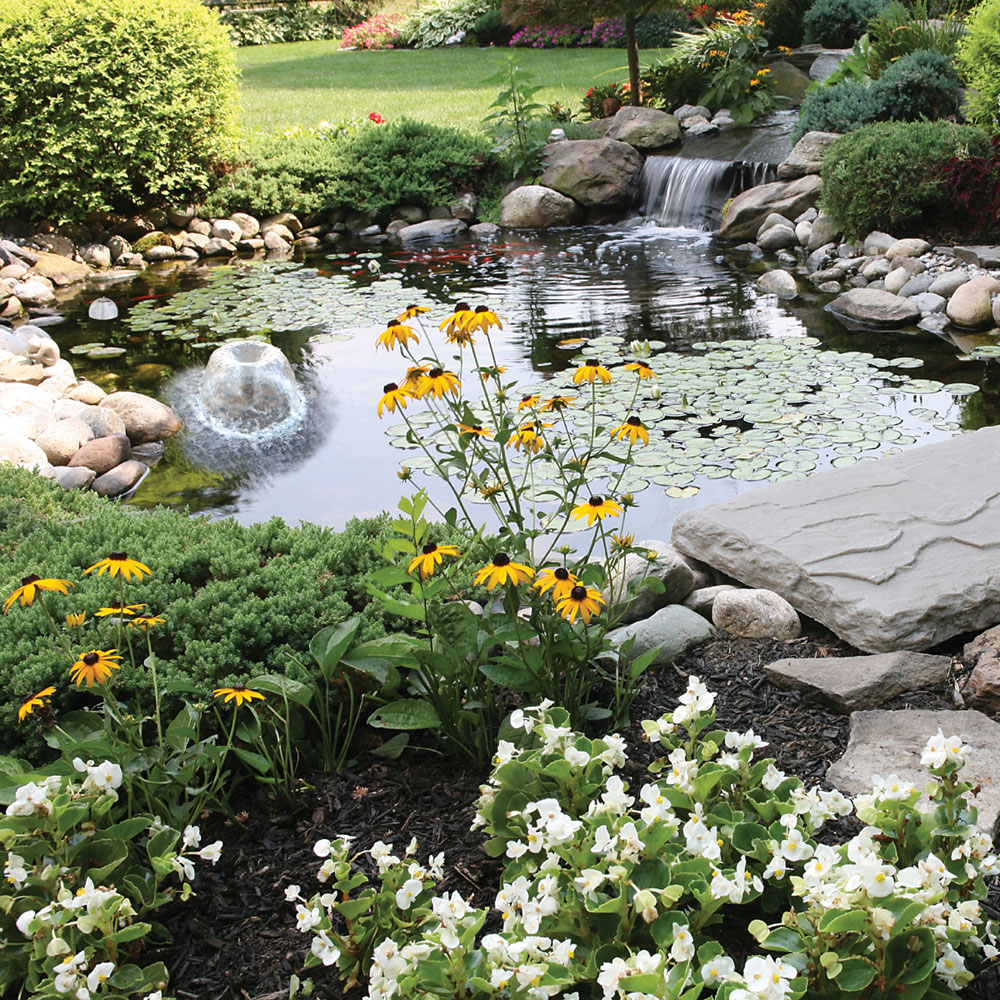 Cheap backyard pond kits design and ideas for Koi pond kits lowes