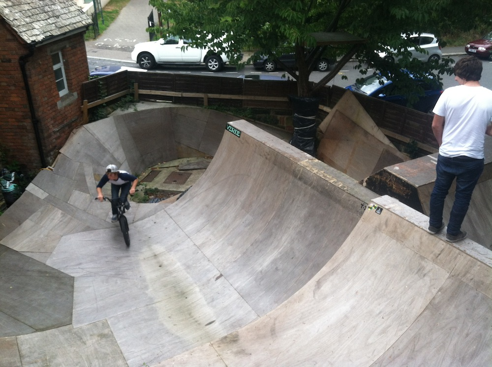 backyard skatepark sesh