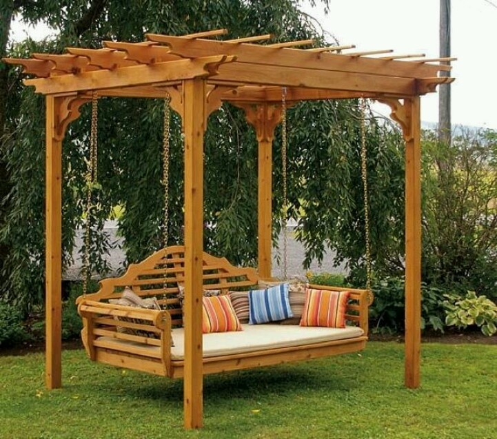 backyard swing bench