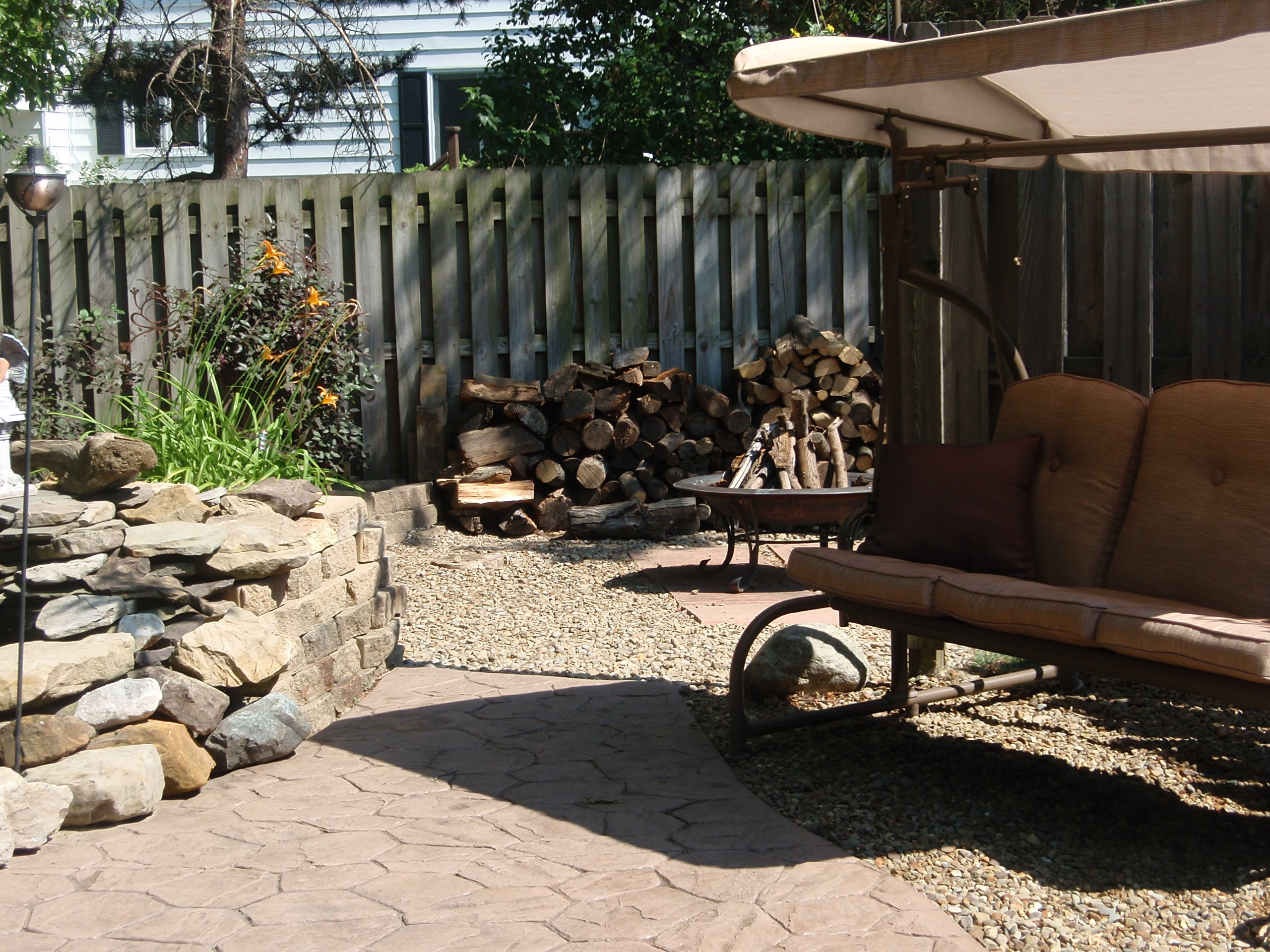 Image of: Backyard Swings And Fire Pit Design And Ideas