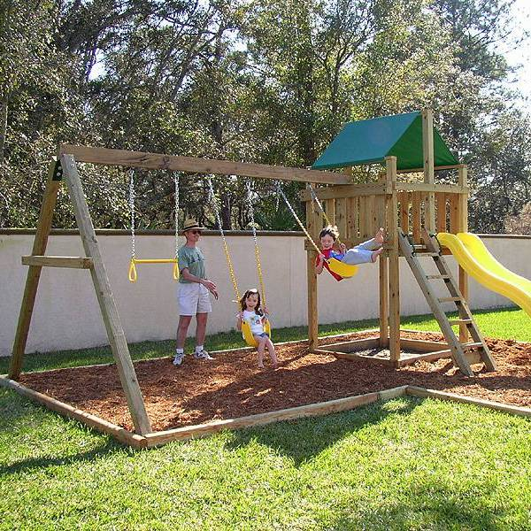 Backyard swings lowes design and ideas for Child swing plans free