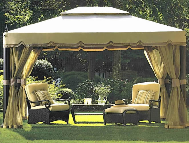 backyard tents gazebos photo - 2 & backyard tents gazebos » Design and Ideas