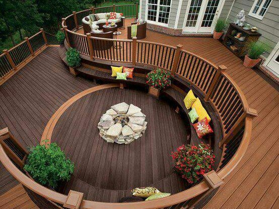 Beautiful Deck Fire Pit