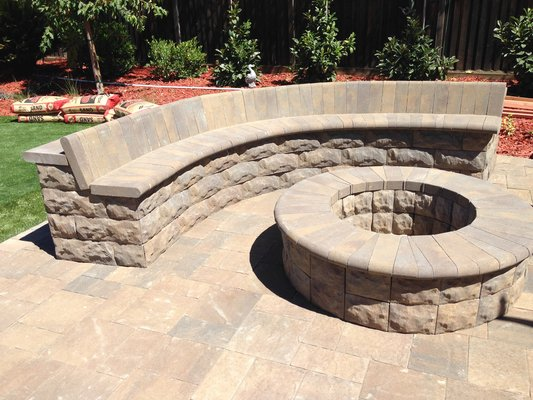 belgard paver fire pit  photo - 2