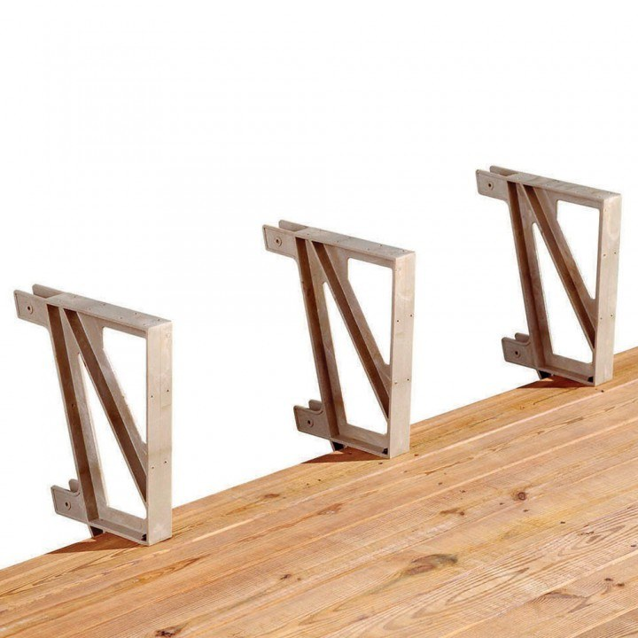 bench brackets for deck