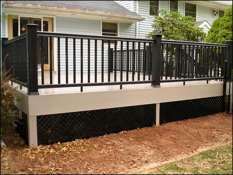 Black Deck Lattice 187 Design And Ideas