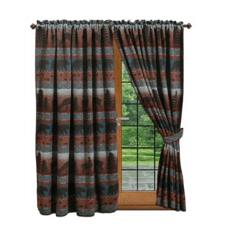 blue cabin curtains