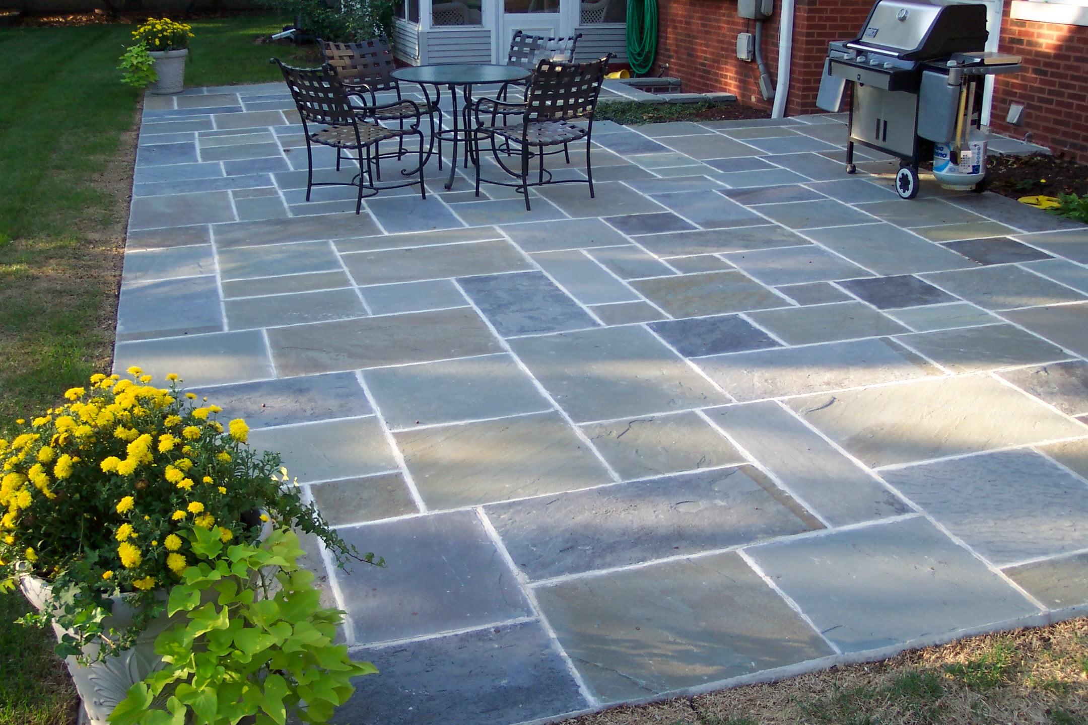 Amazing Blue Stone Patio Ideas