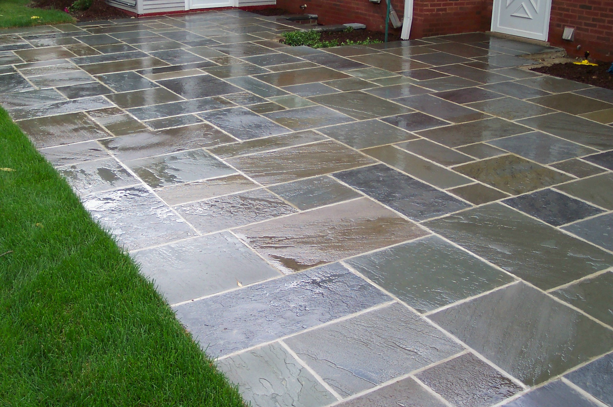 blue stone patio images