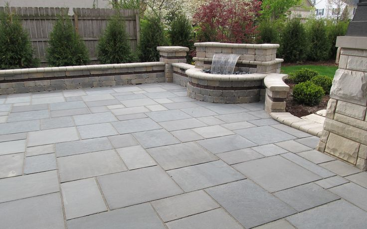 blue stone patio pictures