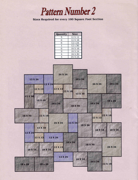 4020 Bluestone Patio Patterns on Patio Furniture Layout Ideas