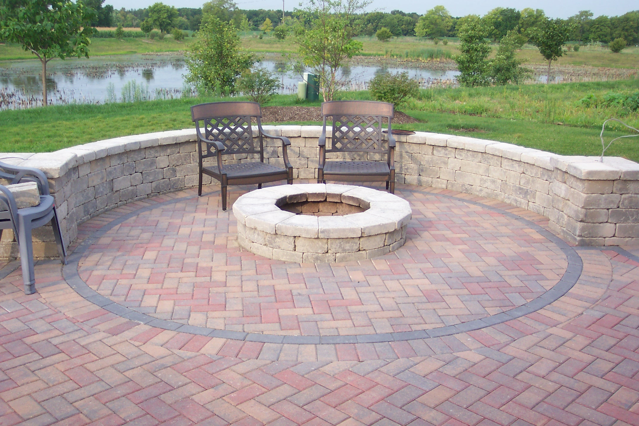 brick patio fire pit ideas - Patio Design Ideas With Fire Pits