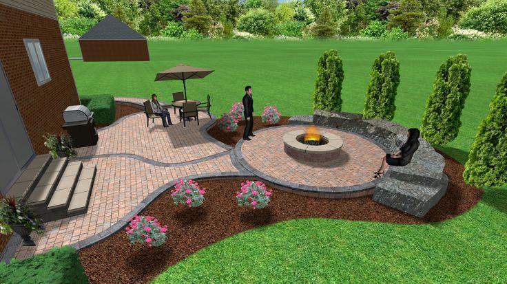 Brick Paver Fire Pit Designs