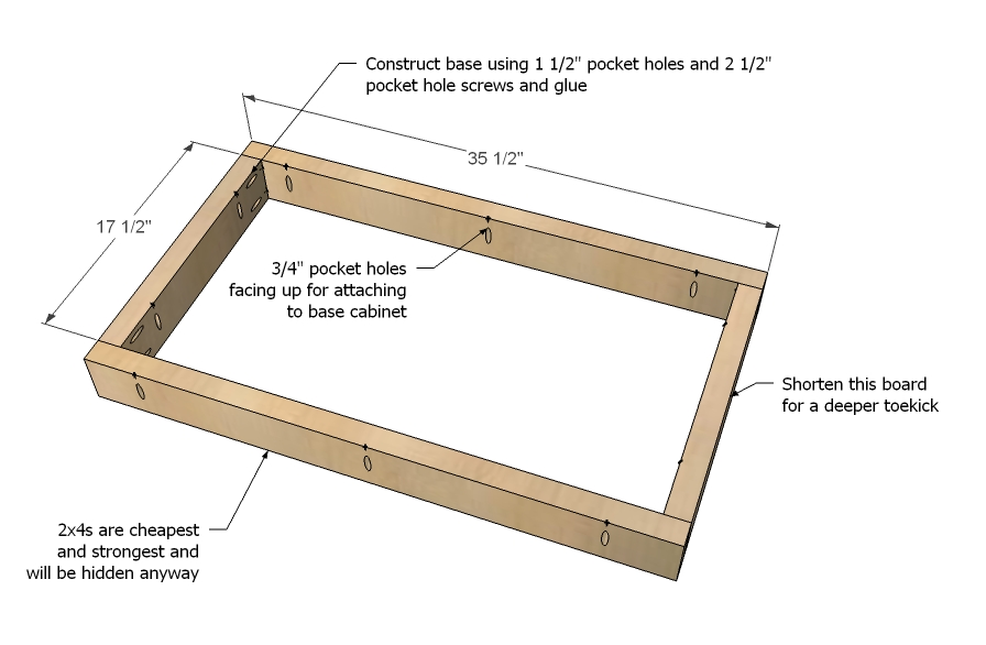build a cabinet base » Design and Ideas