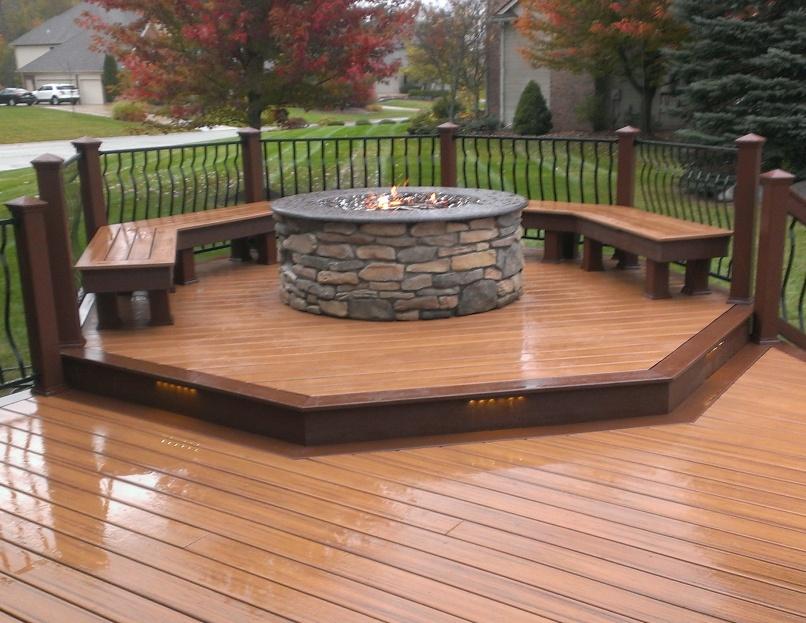 Build Deck Fire Pit Design And Ideas