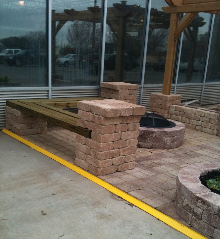 build fire pit seating area  photo - 1