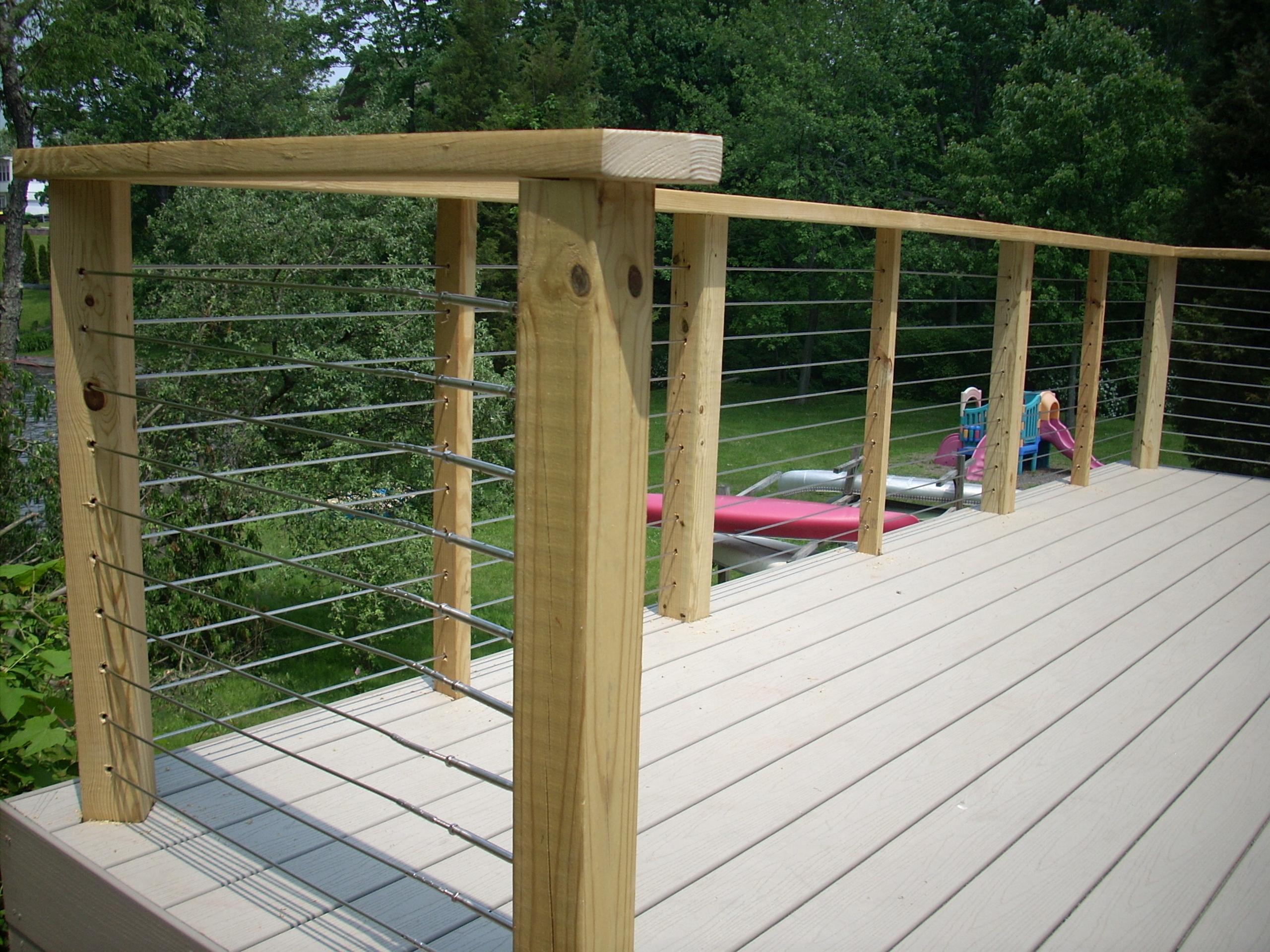 how to make a simple deck railing
