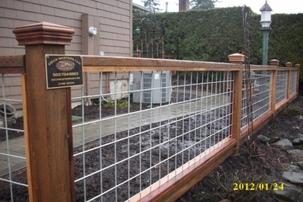 build hog wire deck railing » Design and Ideas