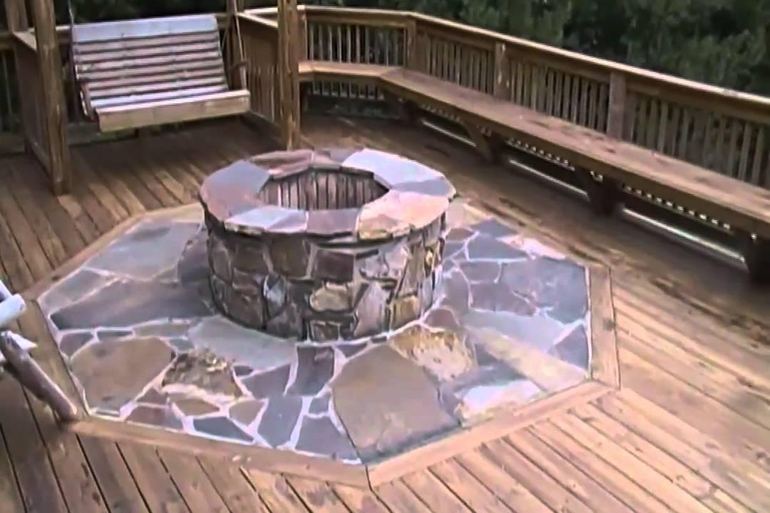 Wood Deck Fire Pit Mat 187 Design And Ideas