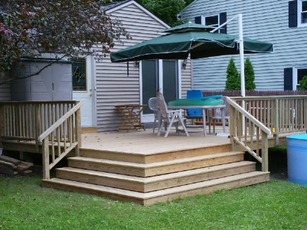 Building Deck Stairs Around Corner
