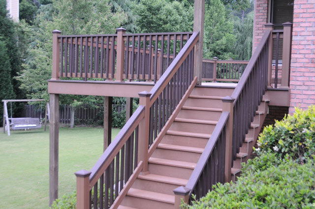 building deck stairs with trex
