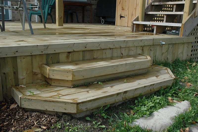Building deck steps box design and ideas for Box steps deck