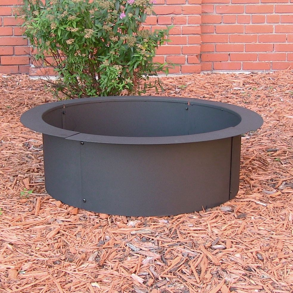 built in ground fire pit  photo - 2