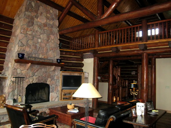 cabin style homes interior