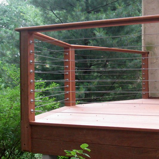 Build hog wire deck railing design and ideas