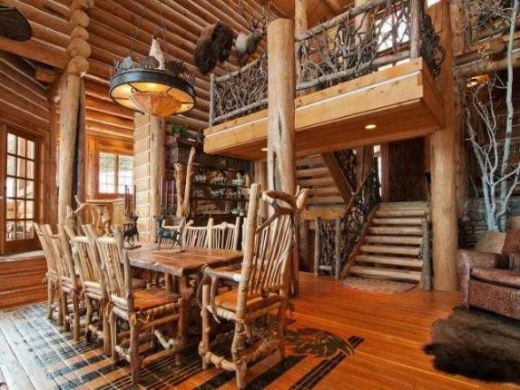 Canadian log cabin interiors design and ideas for Log cabin furniture canada