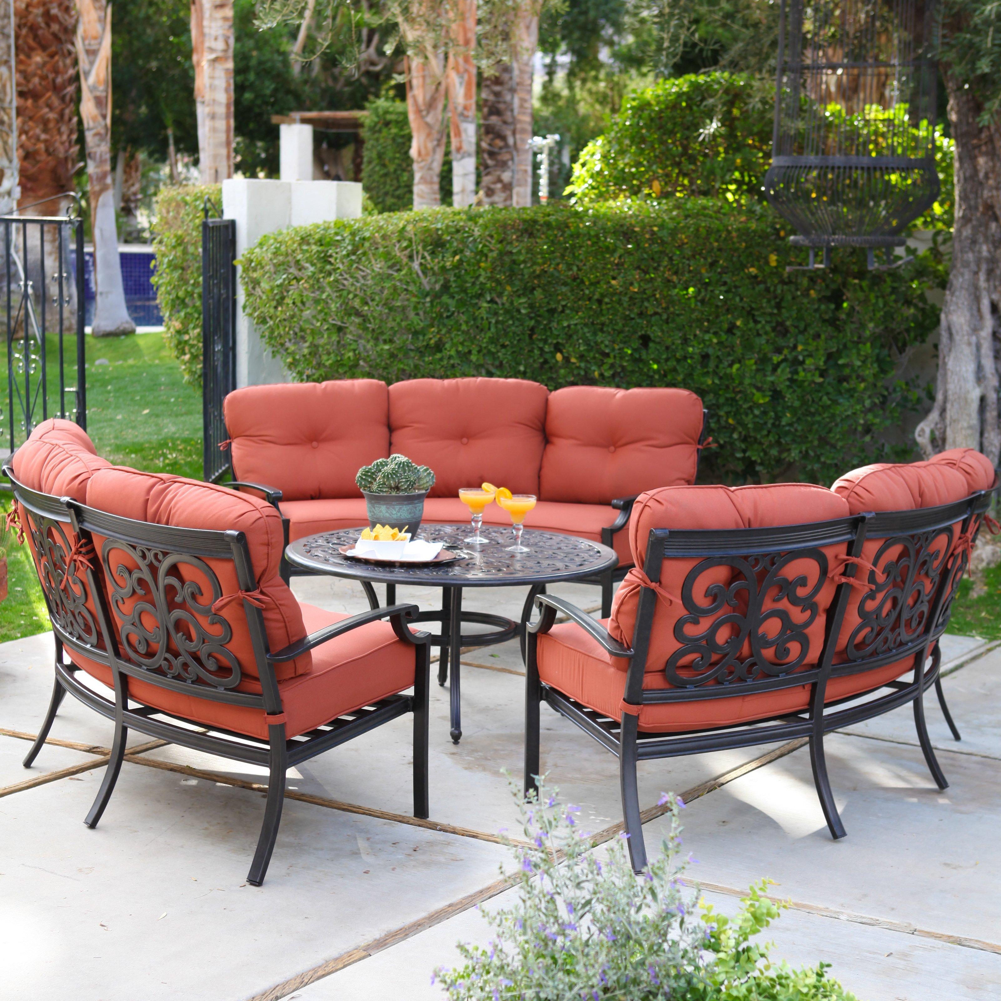 cast aluminum patio conversation sets Design and Ideas