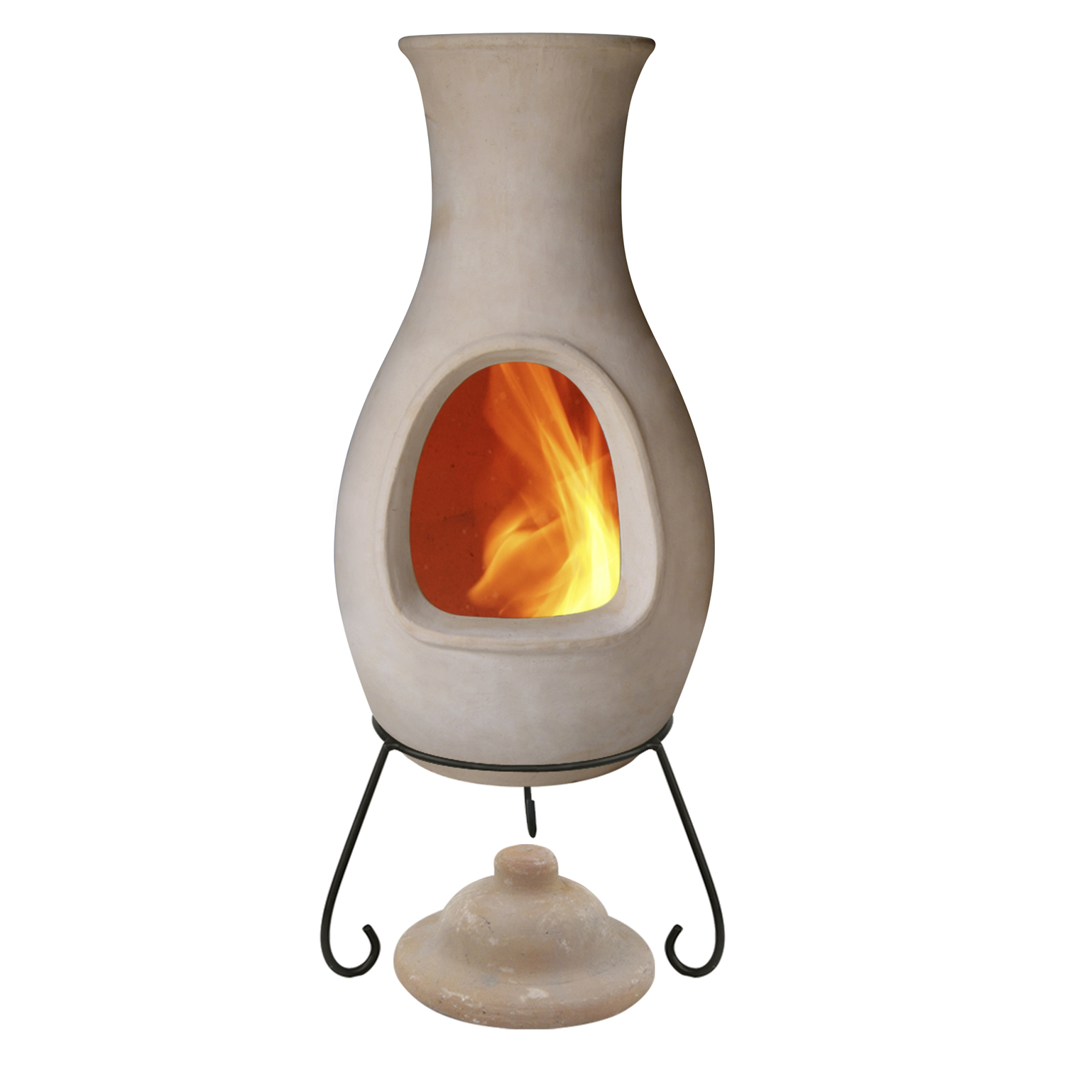 Ceramic fire pit bunnings design and ideas for Mexican chiminea
