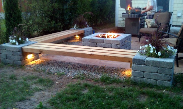 cheap fire pit benches