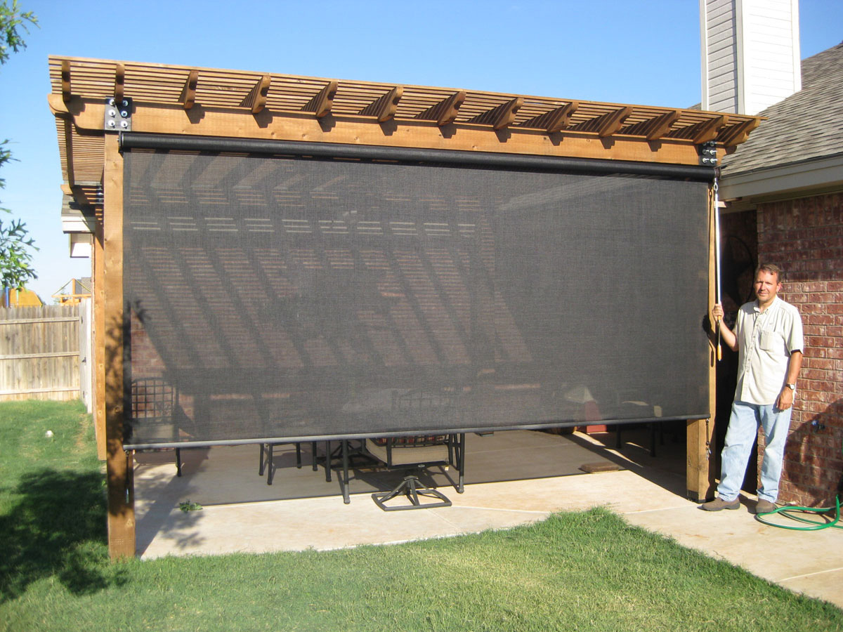 outdoor patio bamboo shades » Design and Ideas