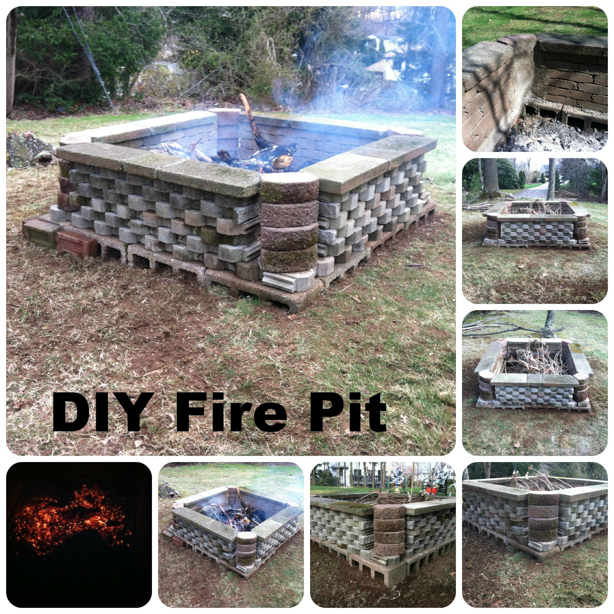 Cinder Block Fire Pit Adhesive Design And Ideas
