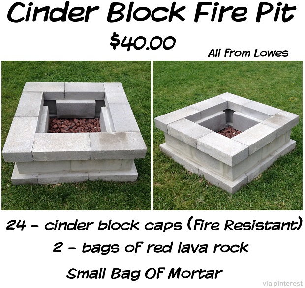 cinder block fire pit designs