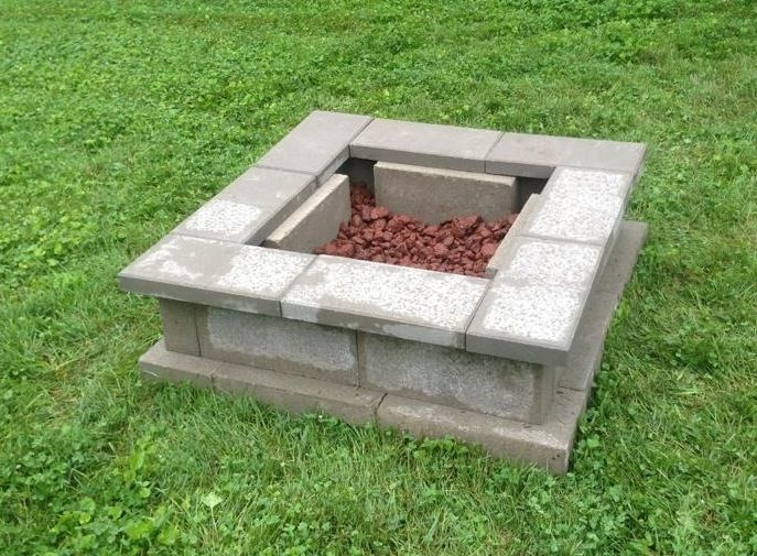 cinder block fire pit safe design and ideas