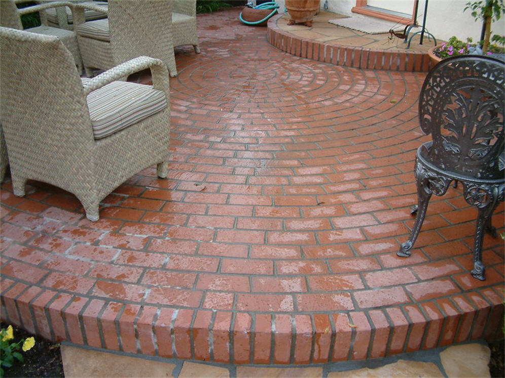 Circular Brick Patio Patterns Photo   2