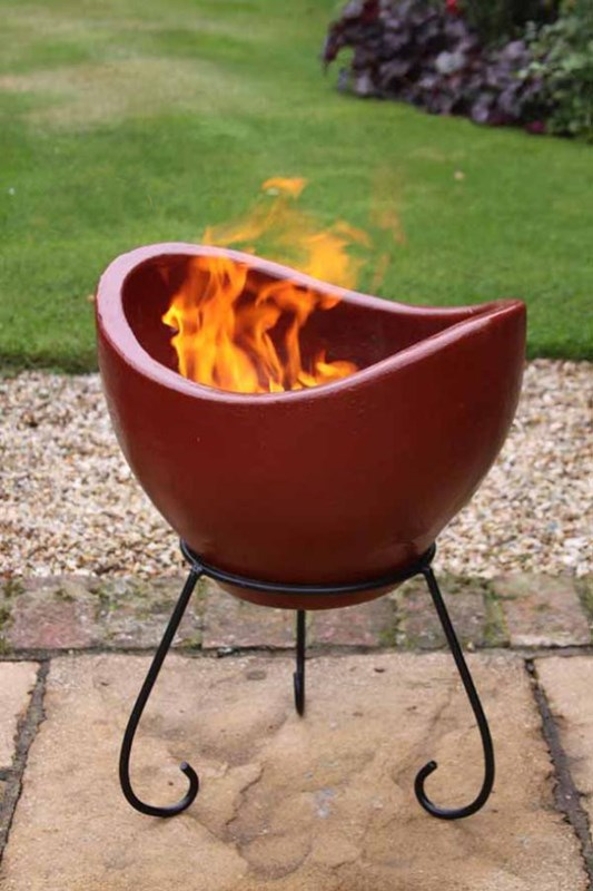 clay pot as fire pit