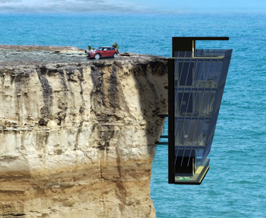 Cliff Hanging Eco House